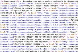 capture d'écran avec code spam Photo publiée avec l'aimable autorisation du magazine WP smashing