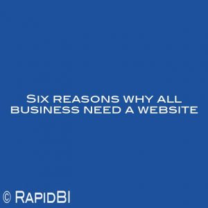 Six reasons why all business need a website