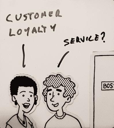 Cartoon - customer loyalty service